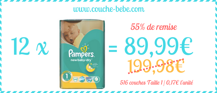 bon plan couche pampers