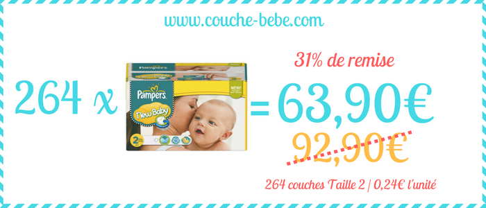 bon plan couche pampers new baby