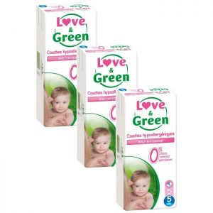 pack x3 couche love and green